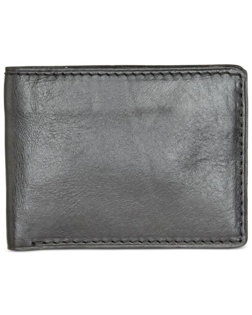 Patricia Nash | Black Nash Men's Heritage Leather Double Billfold Id Wallet | Lyst