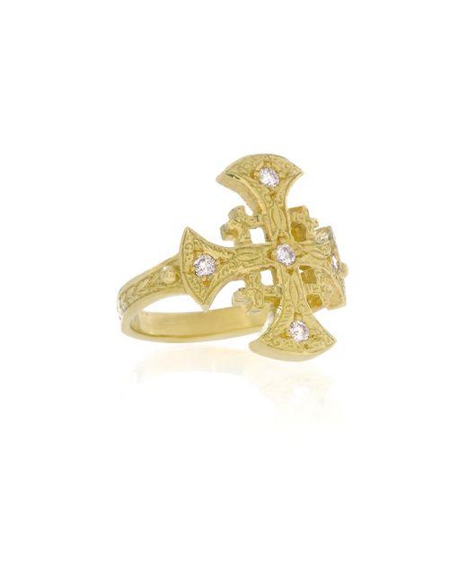 Arman Sarkisyan | Metallic Maltese Cross Ring | Lyst