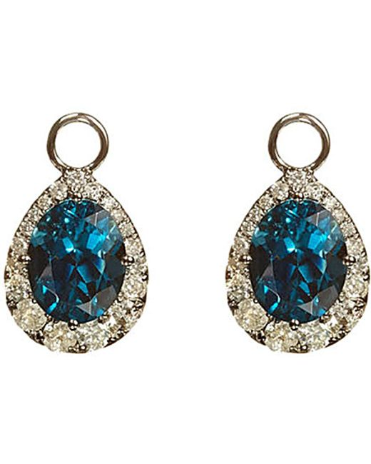 Annoushka | Blue 18ct White-gold, Topaz And Diamond Earring Drops | Lyst