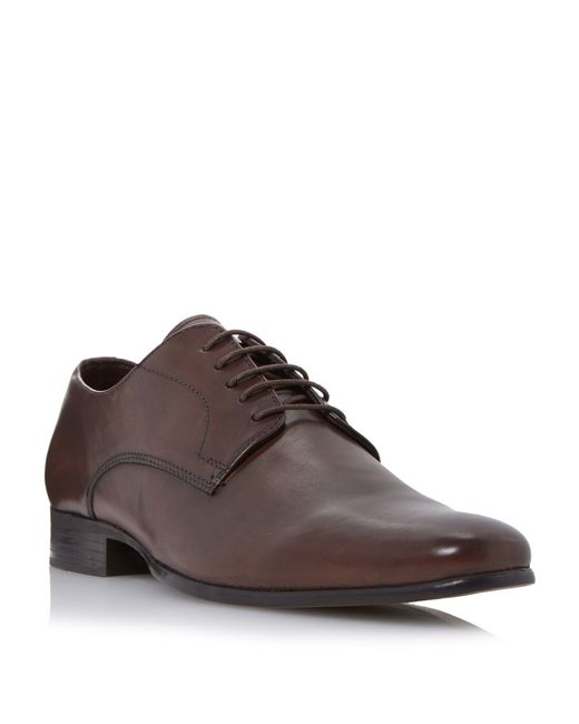 Howick | Brown Riser High Shine Leather Derby Shoes for Men | Lyst