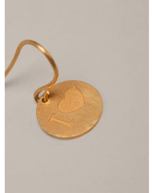 Marie-hélène De Taillac | Metallic 22kt Gold 'i Love' Earrings | Lyst