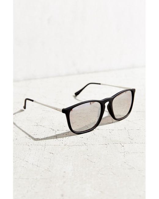 Urban Outfitters | Black Boyfriend Slim Square Sunglasses | Lyst