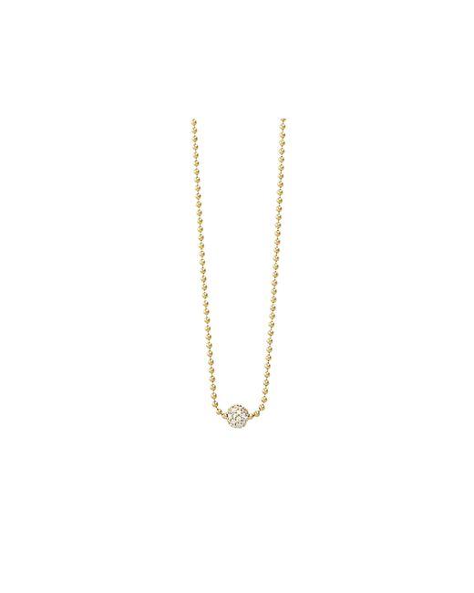 "Lagos | Metallic 18k Gold And Diamond Necklace, 16"" | Lyst"