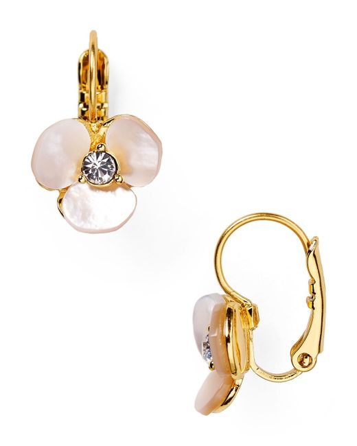 Kate Spade | Metallic Disco Pansy Leverback Earrings | Lyst