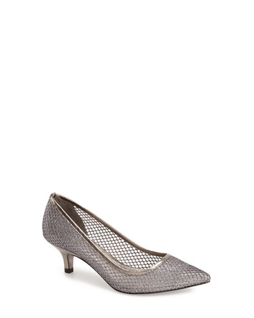 Adrianna Papell | Metallic Lois Mesh Pumps | Lyst