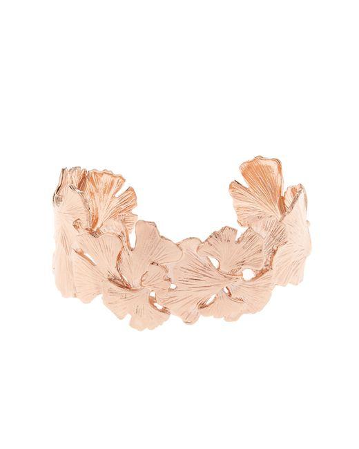 Aurelie Bidermann | Pink Ginkgo Rose-gold Plated Small Cuff | Lyst