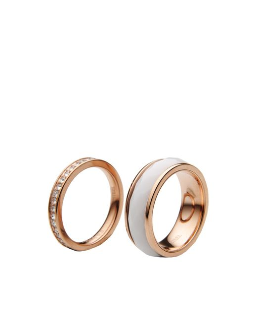 Fossil | Metallic Ring | Lyst