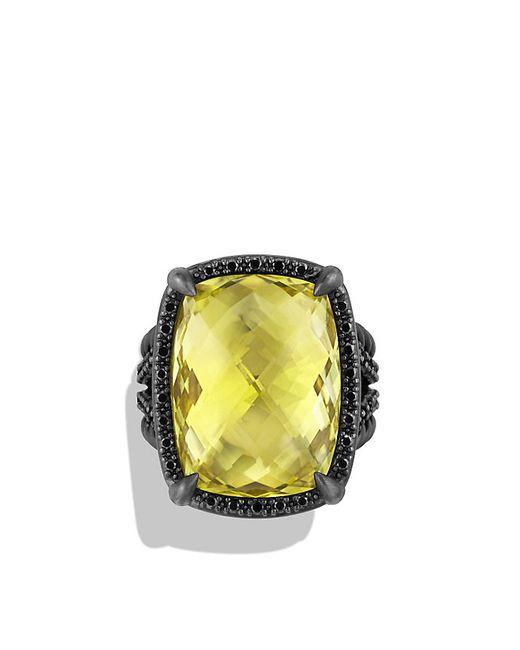 David Yurman | Yellow Ring With Lemon Citrine And Black Diamonds | Lyst