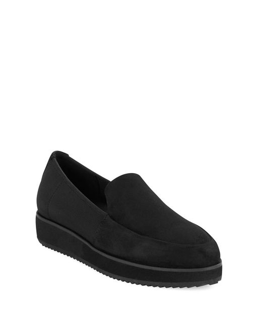 Eileen Fisher | Dell Black Suede Loafer | Lyst