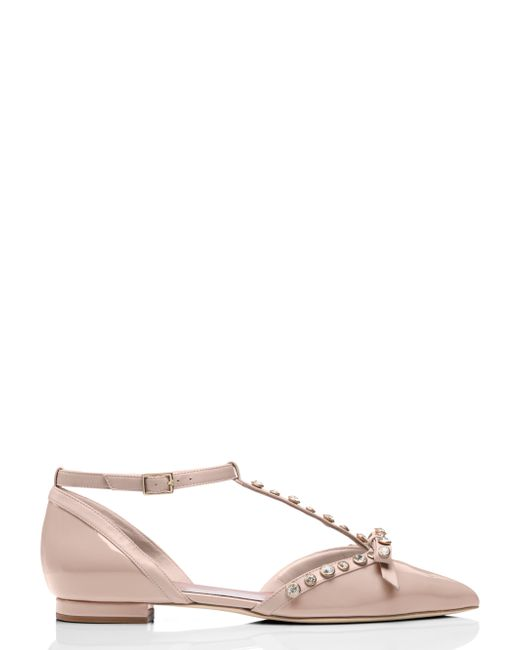 Kate spade new york becca flats in pink lyst for Kate spade new york flats