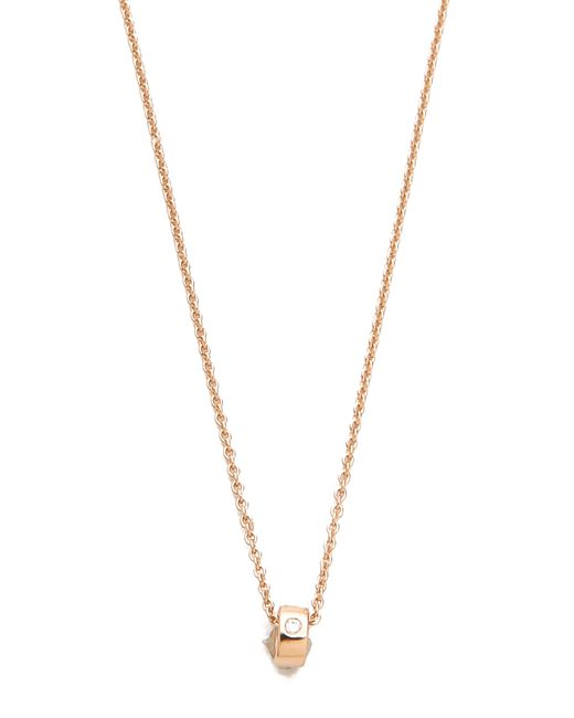 Ginette NY | Pink Mini Tube & Diamond Necklace | Lyst