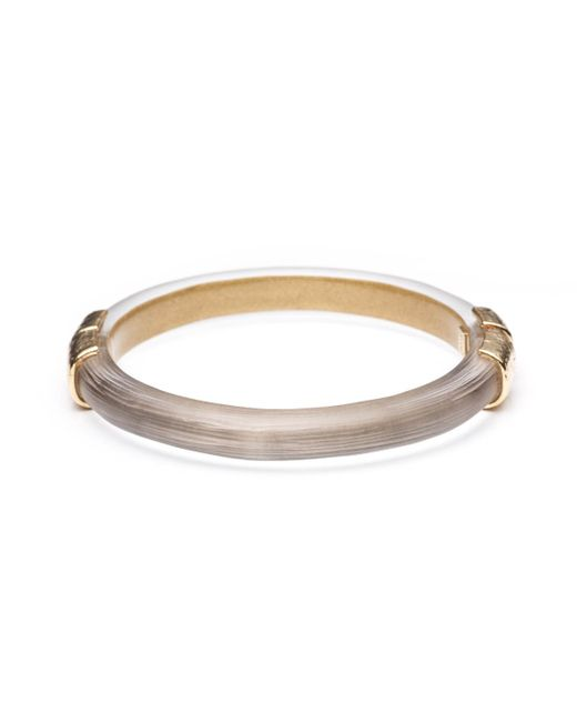 Alexis Bittar | Gray Small Gold Textured End Cap Hinged Bracelet You Might Also Like | Lyst