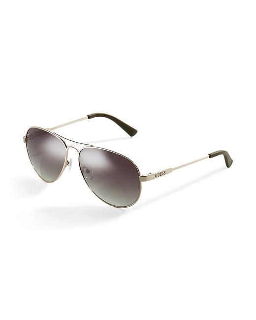 Guess | Metallic Classic Aviator Sunglasses | Lyst