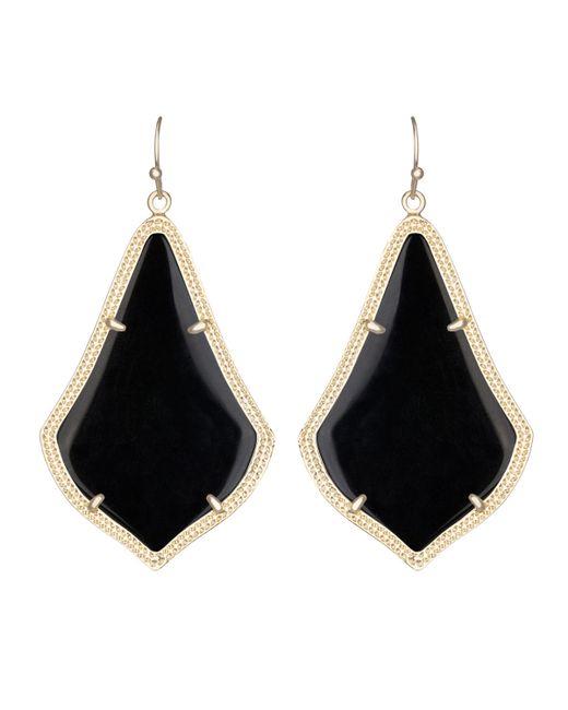 Kendra Scott | Black Alex Drop Earrings | Lyst
