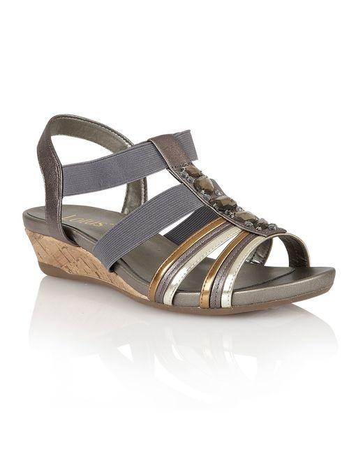 Lotus | Metallic Joda Open Toe Sandals | Lyst