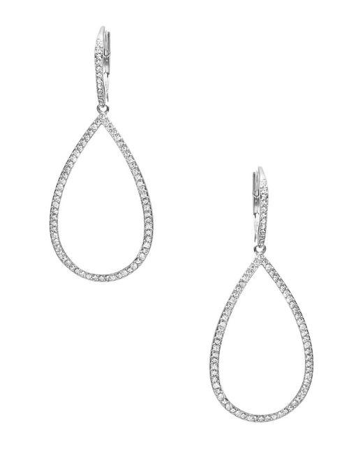 Nadri | Metallic Pave Open Teardrop Earrings | Lyst