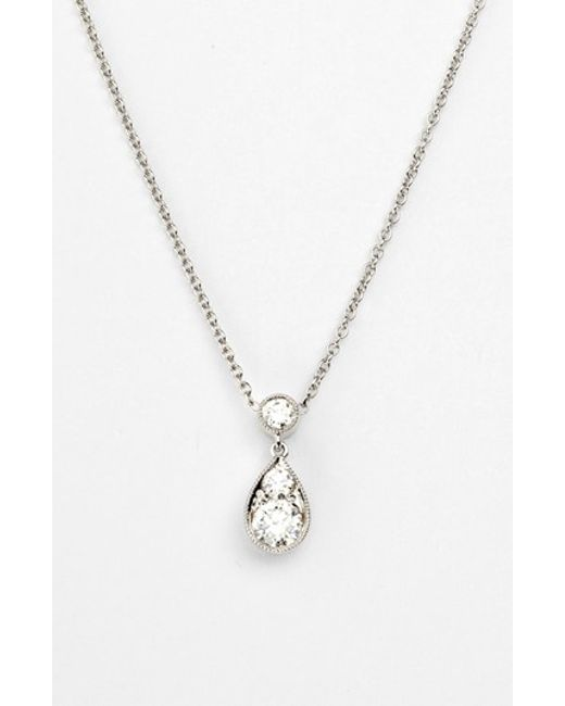 Kwiat | White 'sunburst' Diamond Teardrop Pendant Necklace | Lyst