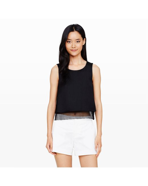 Club Monaco | Black Cilla Crop Tank | Lyst