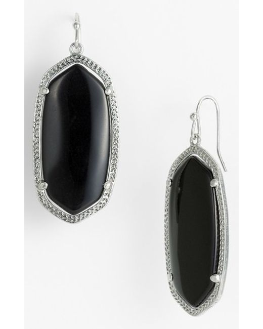 Kendra Scott | Black 'elle' Drop Earrings | Lyst