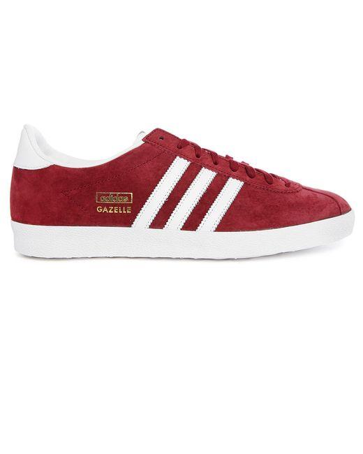 Adidas originals gazelle og burgundy white suede trainers for Gazelle cuisine n 13