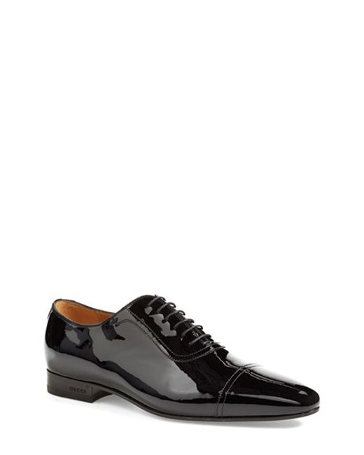 Gucci | Black 'drury' Cap Toe Derby for Men | Lyst