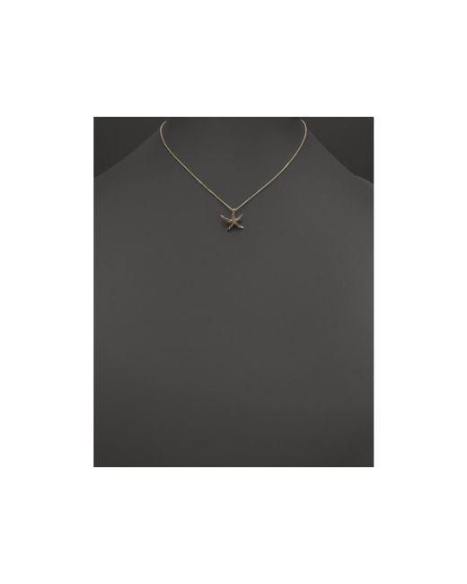 "KC Designs | Metallic Champagne Diamond Starfish Pendant Necklace In 14k Yellow Gold, 16"" | Lyst"
