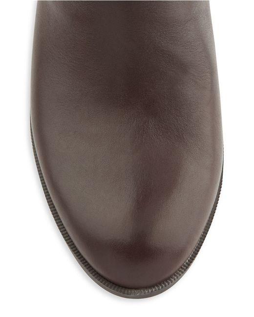Anne Klein | Brown Kaydon Leather Boots | Lyst