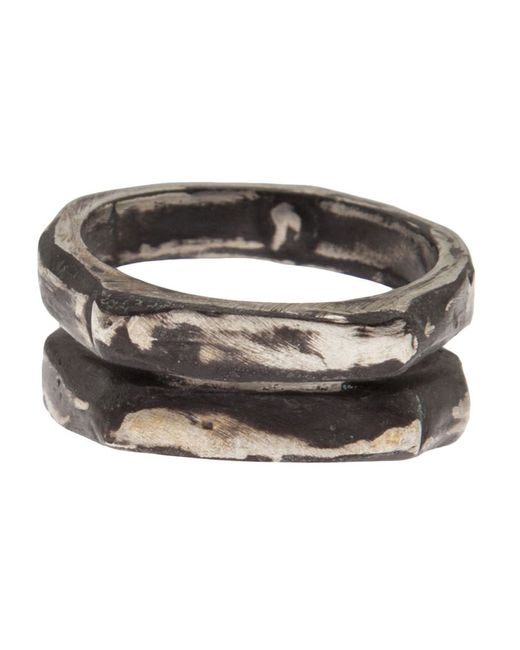 Henson | Metallic Carved Double Ring | Lyst