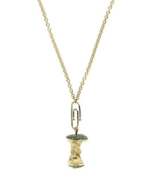 Aurelie Bidermann | Metallic Diamond, Tsavorite & Yellow-gold Necklace | Lyst