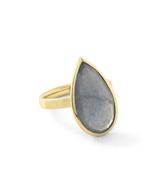 Ippolita | Metallic 18k Rock Candy Single Medium Teardrop Ring In Rutilated Quartz | Lyst