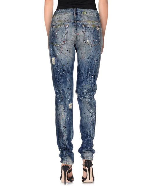 Manila Grace | Blue Denim Trousers | Lyst