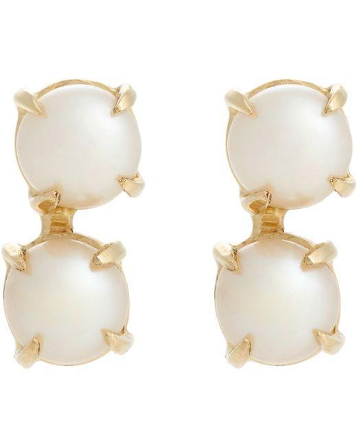 Loren Stewart | Metallic Double Pearl & Gold Studs | Lyst