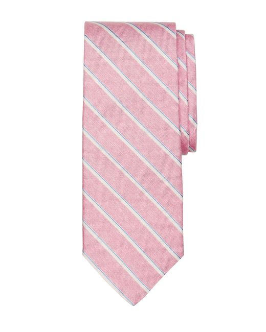 Brooks Brothers | Pink Sidewheeler Stripe Tie for Men | Lyst