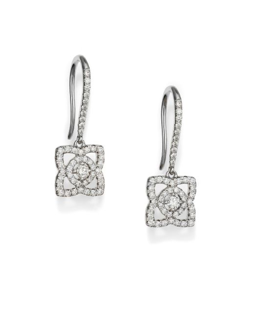De Beers | Metallic Enchanted Lotus Diamond & 18k White Gold Drop Earrings | Lyst