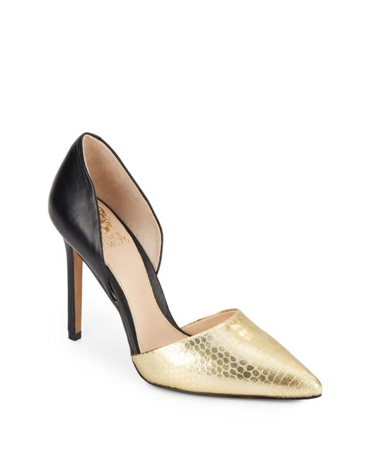 Vince Camuto | Gold Norell Colorblock Leather Pumps | Lyst