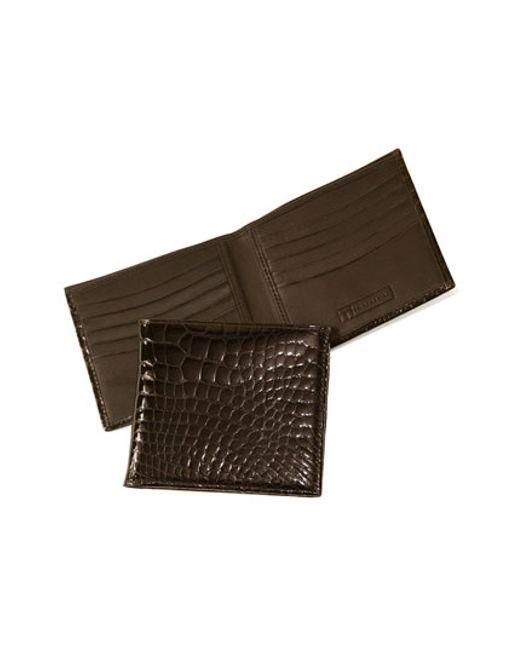 Trafalgar | Brown Genuine Alligator Wallet for Men | Lyst