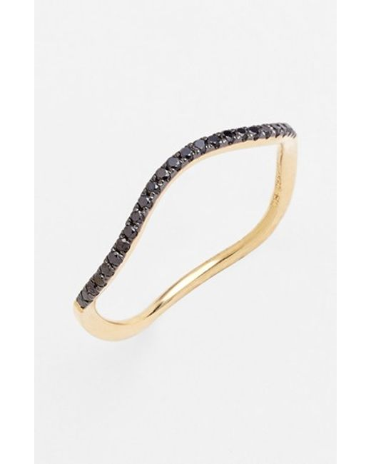 Bony Levy | Metallic Stackable Wavy Diamond Ring (nordstrom Exclusive) | Lyst