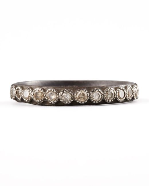 Armenta | Metallic Diamond Band Ring | Lyst