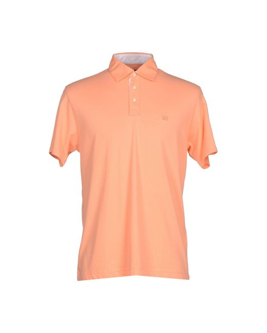Pedro Del Hierro Madrid Polo Shirt In Pink For Men Salmon