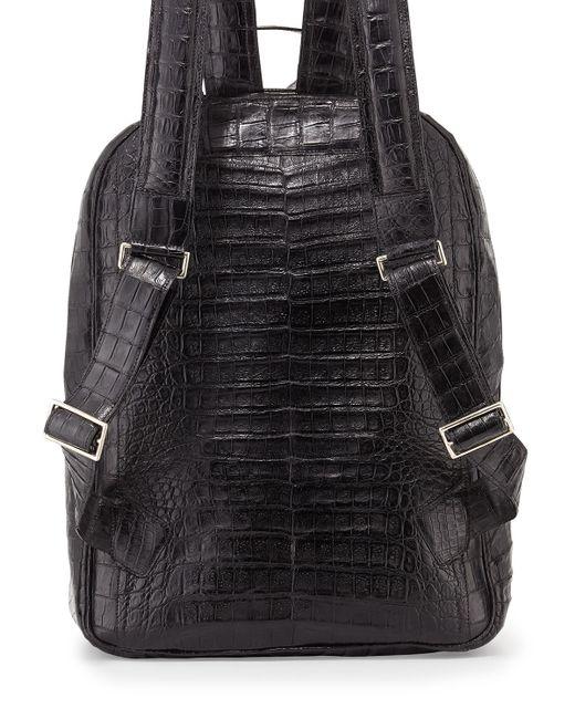 Santiago Gonzalez | Black Crocodile Backpack for Men | Lyst