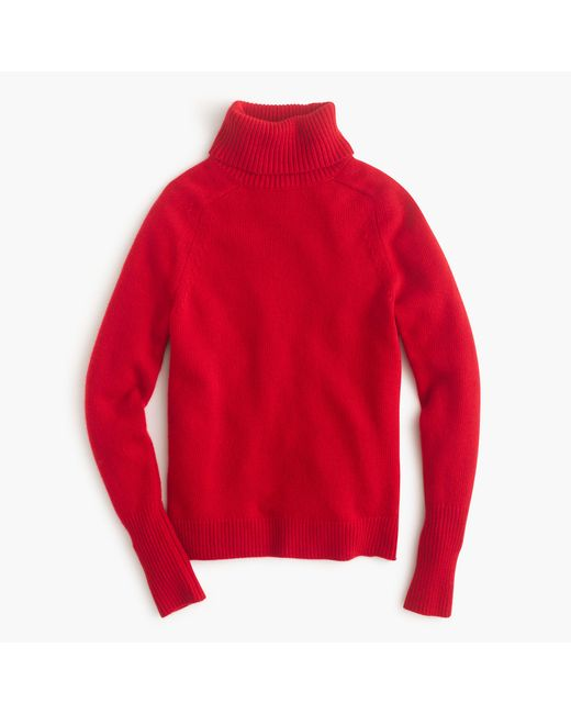 J.Crew | Red Classic Turtleneck Sweater In Wool-cashmere Blend | Lyst
