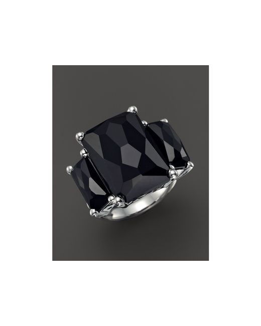 Ippolita | Sterling Silver Rock Candy 3-stone Ring In Black Onyx | Lyst