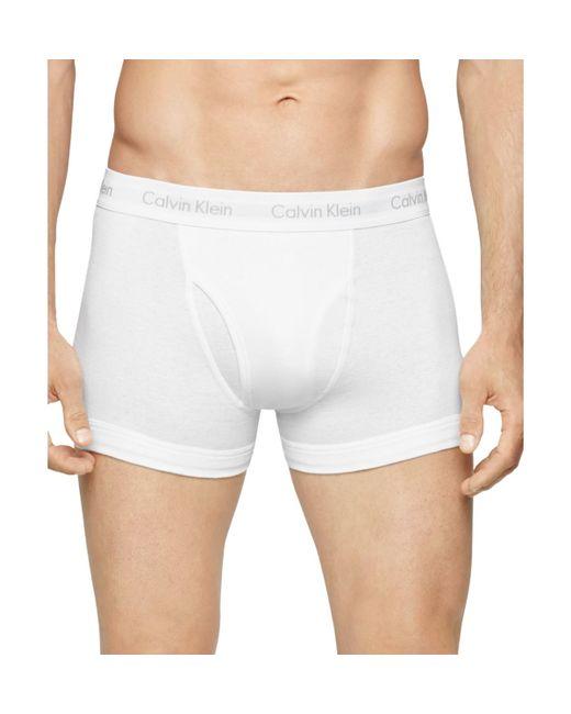 Calvin Klein | White Classic Trunks, Pack Of 3 for Men | Lyst