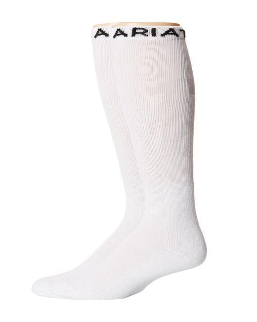 Ariat | White Over The Calf 2-pack Socks for Men | Lyst
