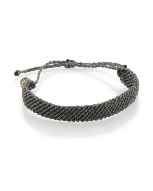 Pura Vida | Gray Flat Braided Bracelet | Lyst