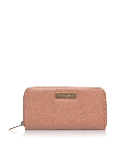 Carvela Kurt Geiger | Natural Alis Zip Around Purse | Lyst