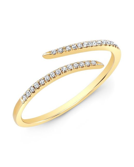 Anne Sisteron | Metallic 14kt Yellow Gold Diamond Open Embrace Ring | Lyst