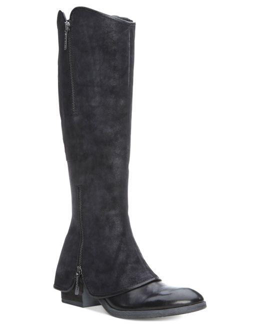 Donald J Pliner | Black Donald J Pliner Devia Cuffed Wide Calf Boots | Lyst