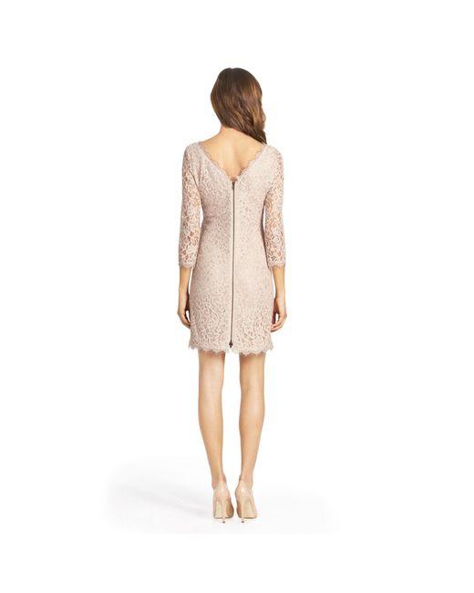 Diane von Furstenberg | Natural Zarita Lace Body-Con Dress | Lyst