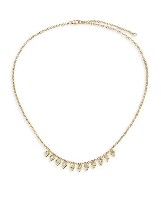 Ron Hami | Metallic Rain Diamond & 18k Yellow Gold Pear Drop Necklace | Lyst